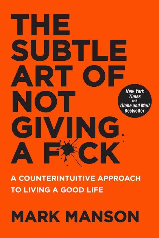 the subtle art of not giving a fuck, relaxt leesvoer, zelfontwikkeling, kop leeg